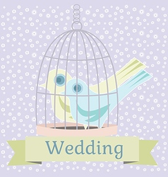 wedding with love doves vector image