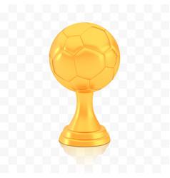 winner football cup award golden trophy logo vector image