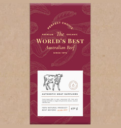 worlds best beef abstract craft paper vector image