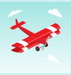 Biplane airplane isometric vector
