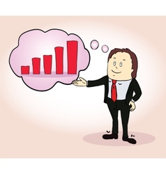 Businessman character Think positive design vector image vector image