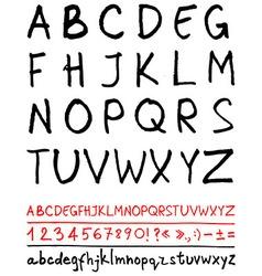 English handwriting alphabet vector image vector image