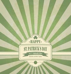 Vintage Saint Patricks Day Background vector image vector image