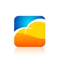 cloud icon color logo vector image
