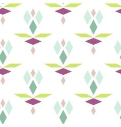 Colorful geometric diamond pattern vector image vector image