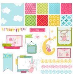 Design Elements - Baby Bunny Sweet vector image