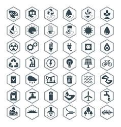 Eco icons black set vector