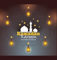 ramadan kareem greeting background colorful vector image