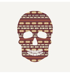 skull with ethnic pattern vector image vector image