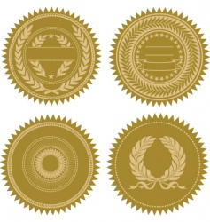 award seal set vector image vector image