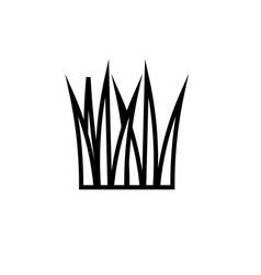 grass icon vector image