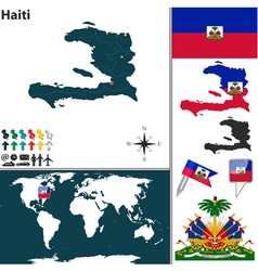 Haiti map world vector image vector image