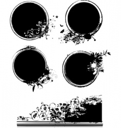 organic symbols vector image vector image