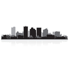 Phoenix USA city skyline silhouette vector image