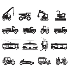 16 Transport Icon vector