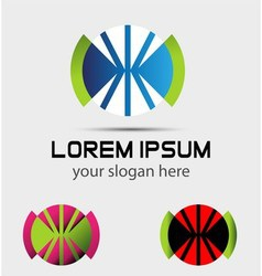 Abstract design logo elements vector