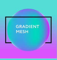 abstract gradient sphere violet pink blue vector image