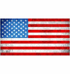 abstract grunge mosaic usa flag vector image