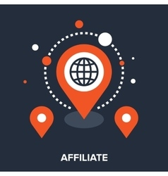 affiliate office vector image