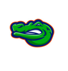 Alligator head mascot vector