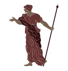 Ancient greek woman vector