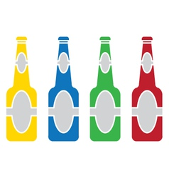 beer bottle colored set vector image