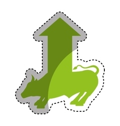 Bull economy symbol isolated icon vector