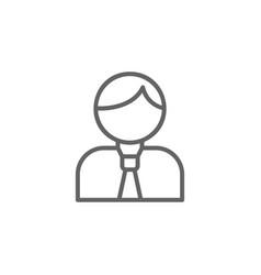Businessman outline icon elements business vector