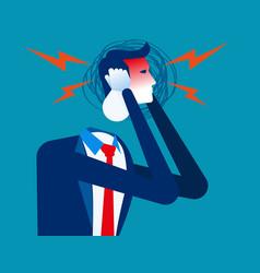 Businessman with headache concept business vector