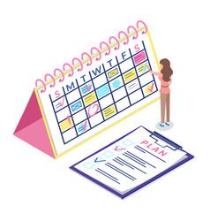 Calendar schedule isometric concept web vector
