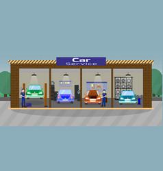 car service flat vector image