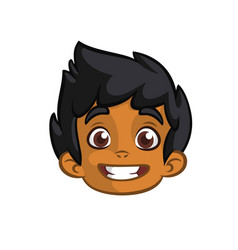cartoon small arab boy vector image