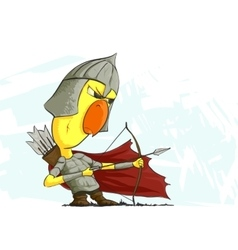 chicken archer ready to action vector image