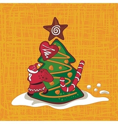 Christmas Gingerbread Background vector image
