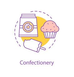 Confectionery concept icon vector