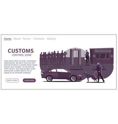 Customs control landing page vector