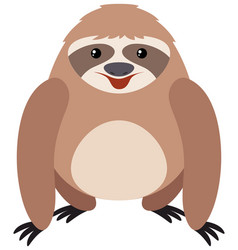 cute sloth with happy face vector image
