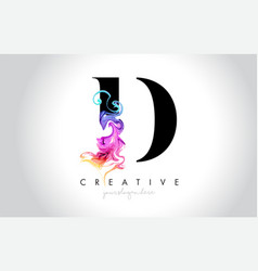 D vibrant creative leter logo design vector