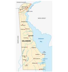 Delaware road map vector