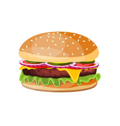 Delicious hamburger icons vector