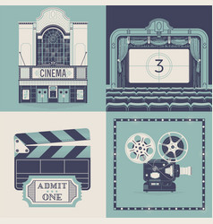 designs on movie theater and cinema entertainment vector image