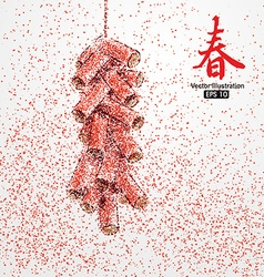 Discharge of firecrackers Chinese New Year vector