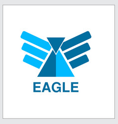 eagle gate eagle fast fly abstract logo design vector image