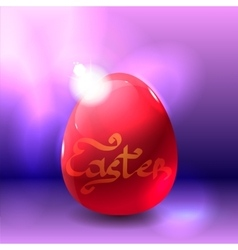 Easter background with shining egg vector