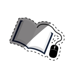 Ebook online education vector