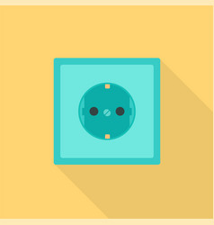 Electric socket icon flat style vector