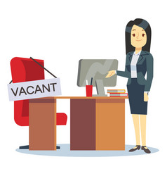 employment vacancy and hiring job concept vector image