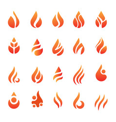 Fire flame icon element isolated vector
