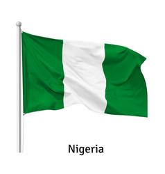 flag federal republic nigeria vector image