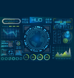 futuristic hud background infographic or vector image